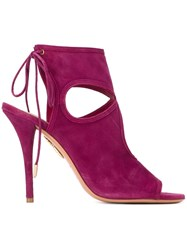 Aquazzura 'Sexy Thing' Sandals Pink And Purple