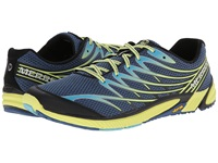 Merrell Bare Access 4 Tahoe Blue Sunny Yellow Men's Shoes Navy
