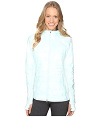 New Balance Nb Heat Hybrid Jacket Droplet Feather Print Droplet Women's Coat Green