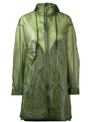 Y 3 Semi Sheer Raincoat Green