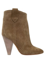 Isabel Marant Etoile 100Mm Roxann Suede Ankle Boots