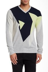 Autumn Cashmere Geometrical Colorblock Cashmere Sweater Multi