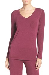 Dkny Women's 'City Essential' Long Sleeve Tee Red Heather