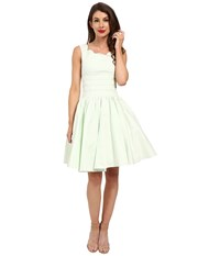 Unique Vintage Roman Holiday Brushed Cotton Swing Dress Mint Women's Dress Green