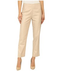 Nic Zoe Perfect Side Zip Ankle Length Pants Fawn Women's Casual Pants Beige