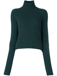 Haider Ackermann Turtle Neck Jumper Green