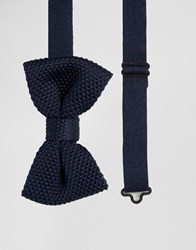 French Connection Knitted Bow Tie Black