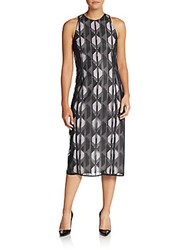 Hugo Boss Dalasi Geometric Dress Open Grey