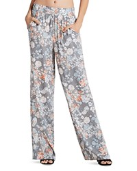 Bcbgeneration Floral Print Palazzo Pants Slate Combo
