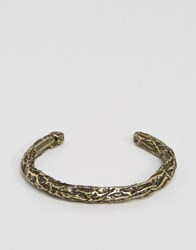 Diesel A Crush Bangle Bracelet In Gold Silver