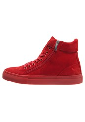Boom Bap Celebration Hightop Trainers Red