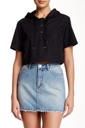 Marc By Marc Jacobs Hooded Cropped Tee Black