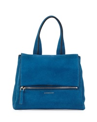 Givenchy Pandora Pure Small Suede Satchel Bag Electric Blue