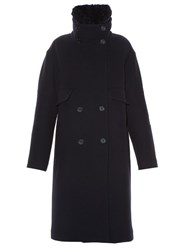 Jil Sander Bluetooth Double Breasted Coat Navy