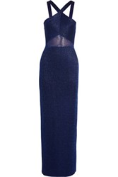 Missoni Metallic Stretch Knit Maxi Dress Royal Blue