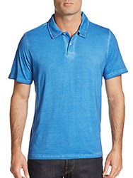 Saks Fifth Avenue Slim Fit Cotton Polo Shirt Medium Blue
