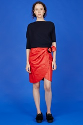 J.W.Anderson Wrap Circle Buckle Skirt Red