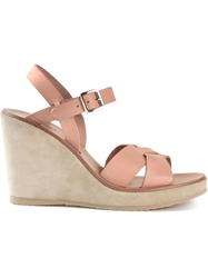 A.P.C. Wedge Sandals Nude And Neutrals