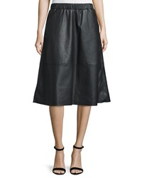 Bagatelle Faux Leather A Line Midi Skirt Black