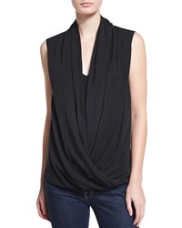 Natori Sleeveless Draped Top Black