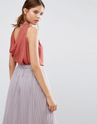 Coast Etiana Top With Embellished Neckline Russet Copper