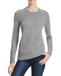Bloomingdale's C By Button Crewneck Cashmere Sweater Slate