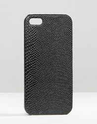 Missguided Snakeskin Iphone 6 Case Black