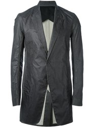 Rick Owens Oversized Coated Blazer Black