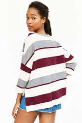 Bdg Striped Structured Tee Grey Multi