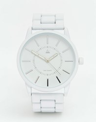 Asos Bracelet Watch In Matte White White