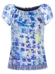 Damsel In A Dress Print Lucite Top