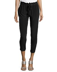 Haute Hippie Cropped Leg Jogger Pants Black