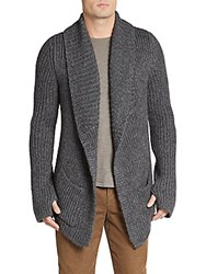 Zadig And Voltaire Mitch Woven Cardigan Anthracite