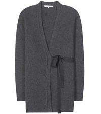 Helmut Lang Wool And Cashmere Cardigan Grey