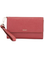 Dkny Medium Tech 'Bryant Park' Wallet Red