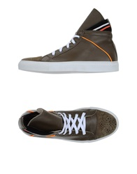 Les Hommes Sneakers Military Green