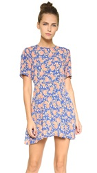 Tularosa Iris Dress Navy Peach Floral
