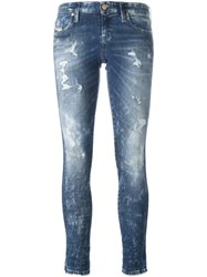 Diesel Distressed Skinny Jeans Blue
