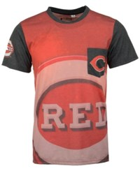 Forever Collectibles Men's Cincinnati Reds Pocket Sublimated T Shirt Red Black