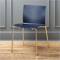 Cb2 Slim Navy Chair