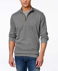 Weatherproof Quarter Zip Pullover Sweater Dark Gray