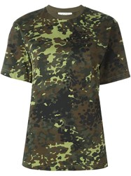 Alyx Camouflage Print T Shirt Green