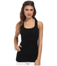 Michael Stars Slub Racerback Tank Black Women's Sleeveless