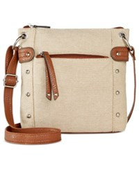 Styleandco. Style And Co. Tate Small Crossbody Only At Macy's Cotton Check
