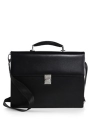 Montblanc Meisterstuck Single Gusset Briefcase Black