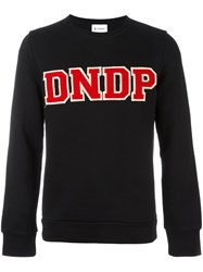 Dondup Logo Patch Sweatshirt Black