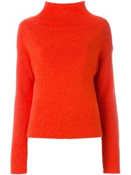 Cedric Charlier Turtleneck Sweater Yellow And Orange
