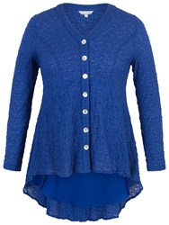 Chesca Chiffon Trim Bubble Blouse Cobalt