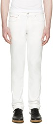 Naked And Famous White Super Skinny Guy Jeans