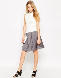 Le Mont St Michel Gathered Skirt Black